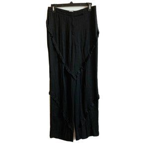Armani Collezioni Silk Blend Semi Sheer Pants